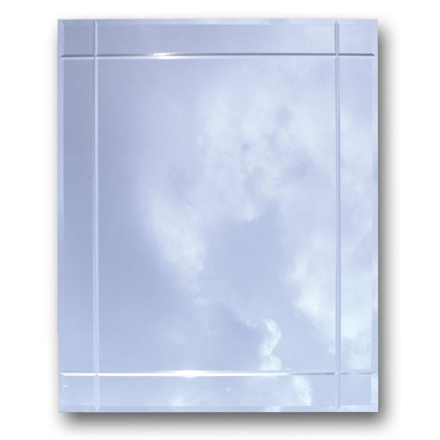 American Pride 16.19-in x 22.25-in Rectangle Recessed Mirrored Plastic Medicine Cabinet