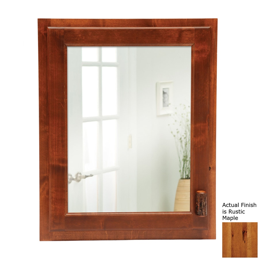 Bathroom Medicine Cabinet With Electrical Outlet: Shop Fireside Lodge Furniture 18-in X 22-in Rectangle