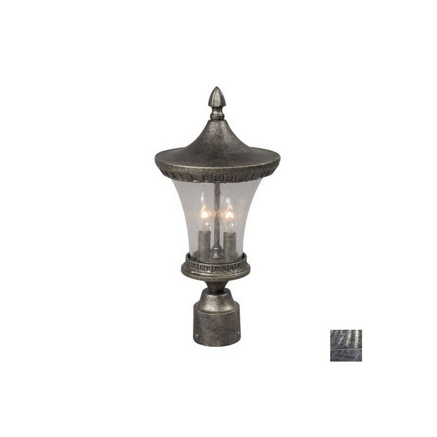 Galaxy 17-3/4-in Antique Silver Post Light