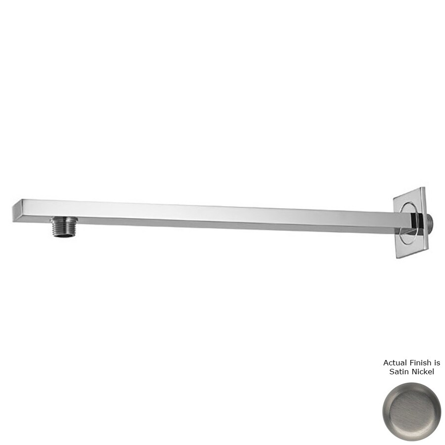 Westbrass Satin Nickel (Brushed Nickel) Shower Arm and Flange