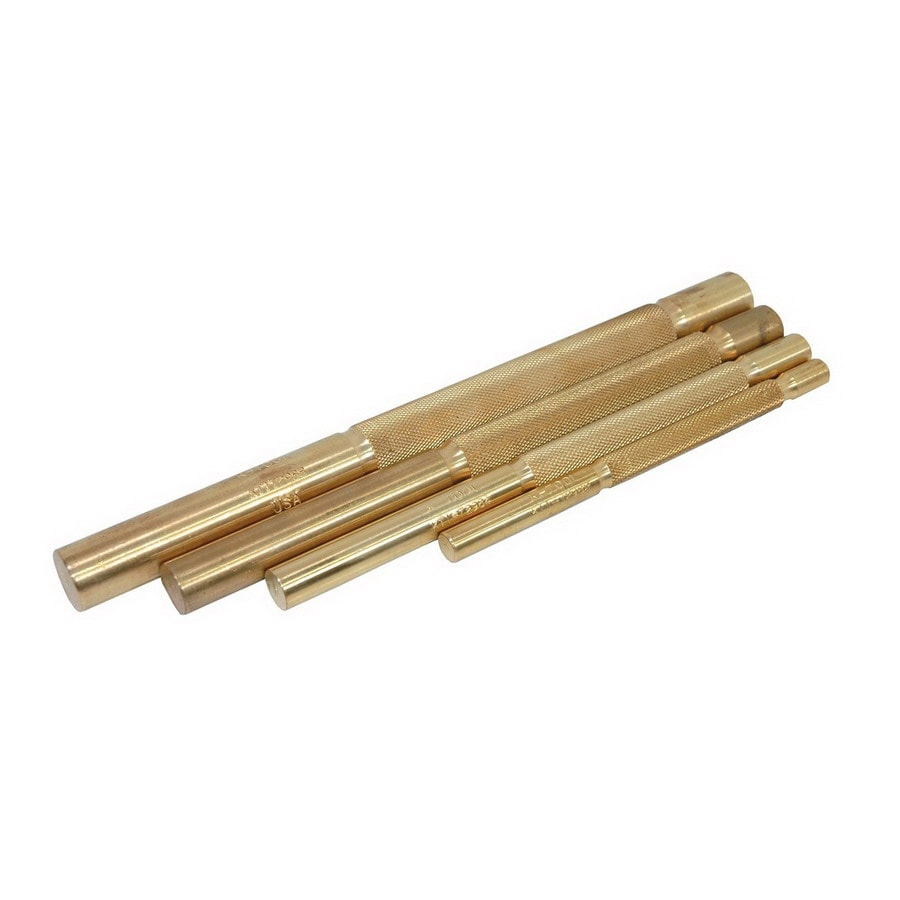 K Tool International 4-Piece Brass Punch Set