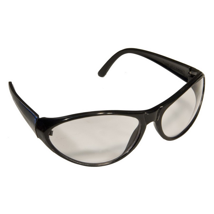 Morris Products Black Clear Lens Sporty Safety Glasses
