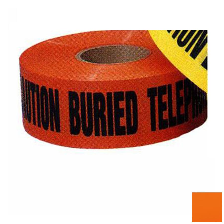 Morris Products 3-in x 1,000-ft Orange Safety Tape