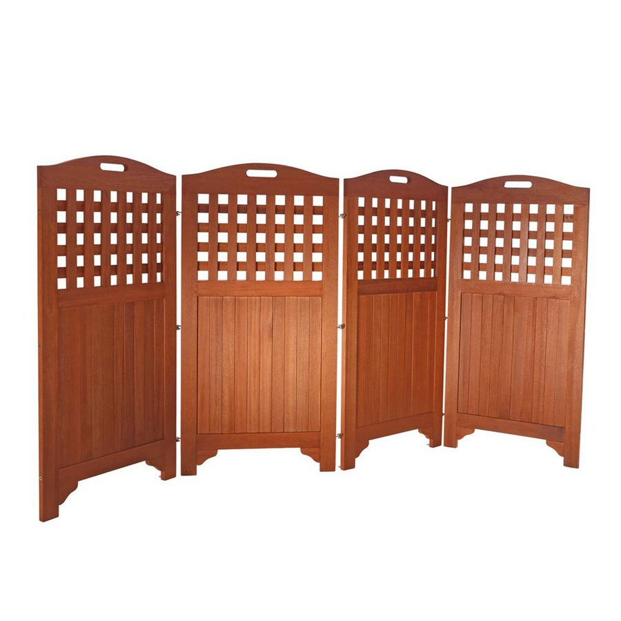 VIFAH 102-in W x 47-in H Natural Acacia Outdoor Privacy Screen