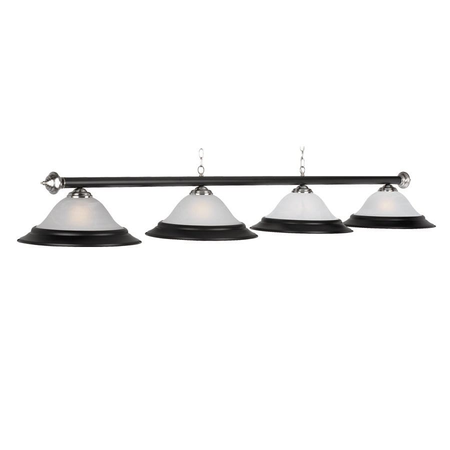 RAM Gameroom Products Matte Black and Stainless Steel Pool Table Lighting