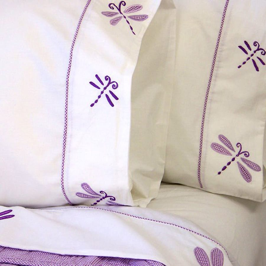 My World Dragonfly Butterfly Twin Cotton Sheet Set
