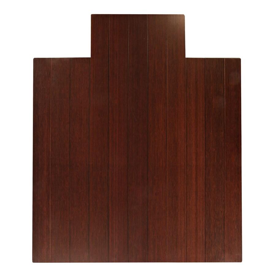 Anji Mountain Dark Cherry Chair Mat (Common: 4-Ft x 4-Ft; Actual: 44-in x 52-in)