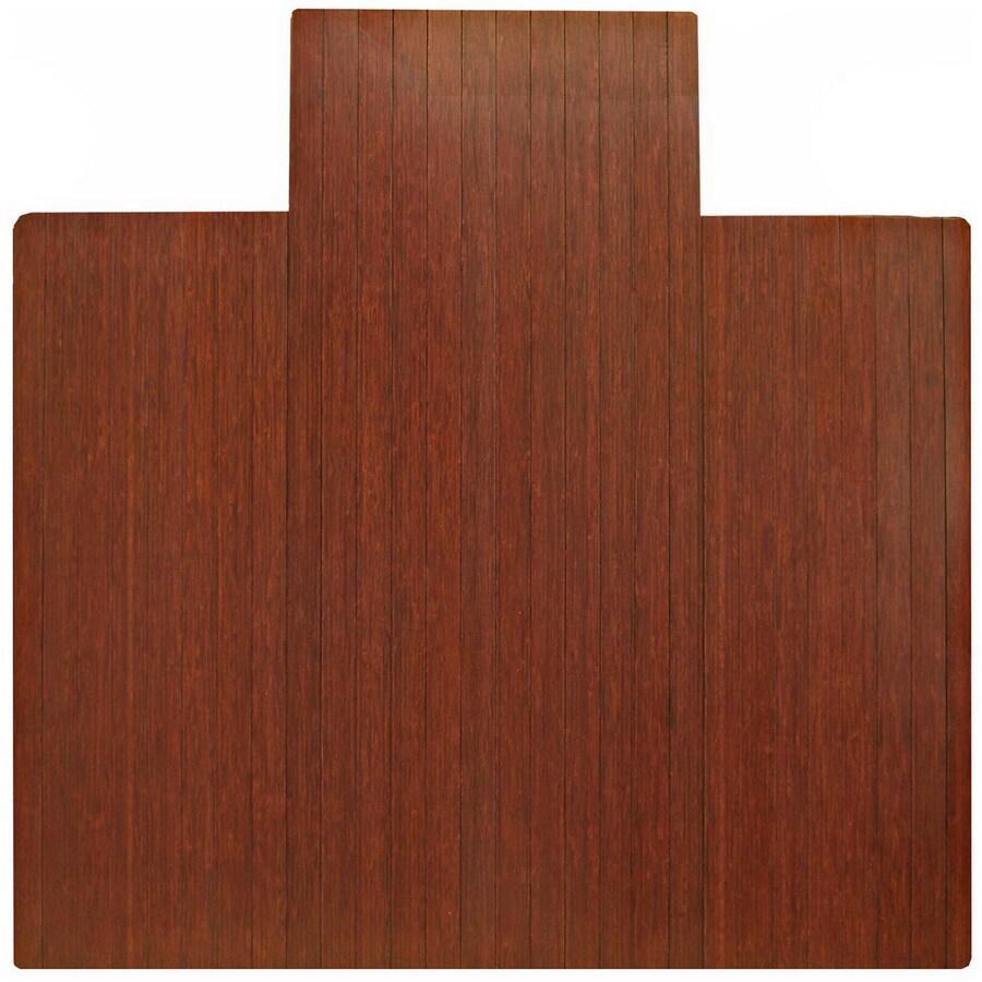 Anji Mountain Dark Cherry Chair Mat Mat (Common:; Actual: 55-in x 57-in)