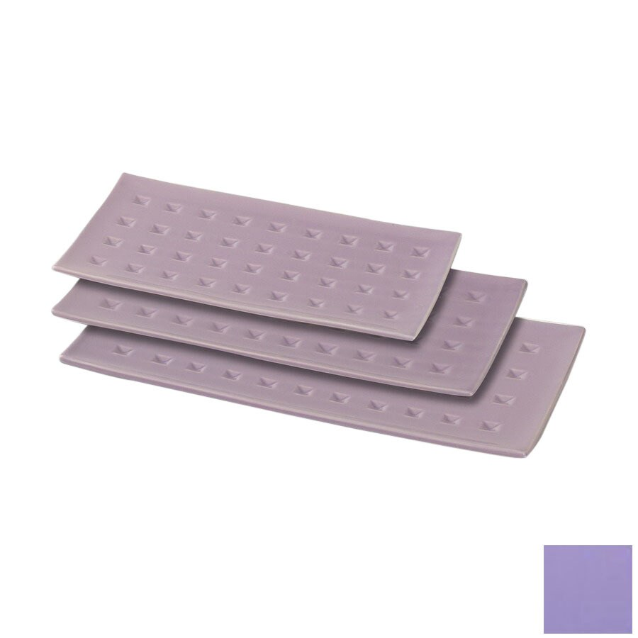 Firefly Home Collection Vivre 15-in x 8-in Purple Ceramic Rectangle Serving Tray