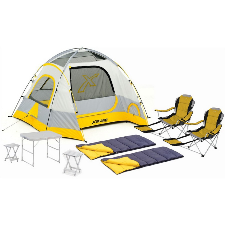 Xscape Vertex 4 Table Stools Sportline and Sleeping Bag Combo