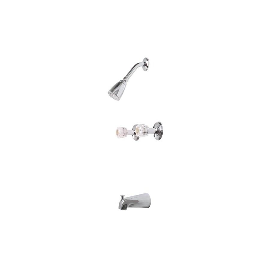 Premier Faucet Concord Chrome 2-Handle Bathtub and Shower Faucet Trim Kit with Single Function Showerhead