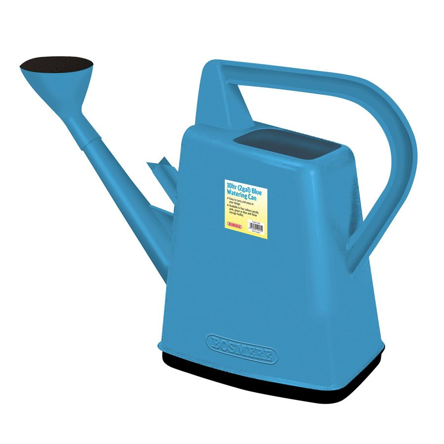 Bosmere 2.6-Gallon Blue Plastic Watering Can