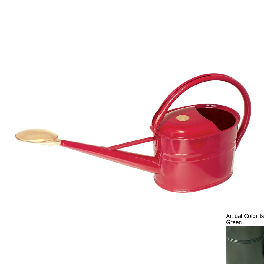 Bosmere Slimcan 1.32-Gallon Green Metal Watering Can