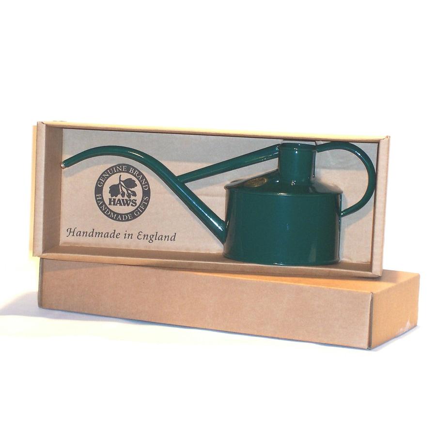 Shop bosmere indoor pot dark green metal watering can at - Gallon metal watering can ...