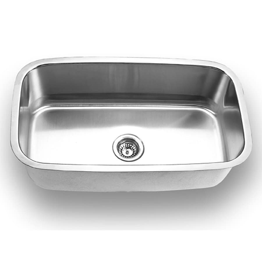 Yosemite Home Decor 31.5-in x 18.5-in Satin-Stainless Steel Single-Basin Undermount Commercial Kitchen Sink