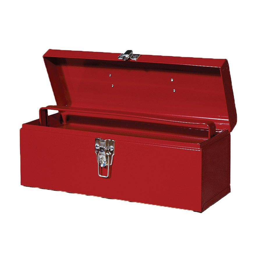 International Tool Storage 19-in Red Steel Lockable Tool Box