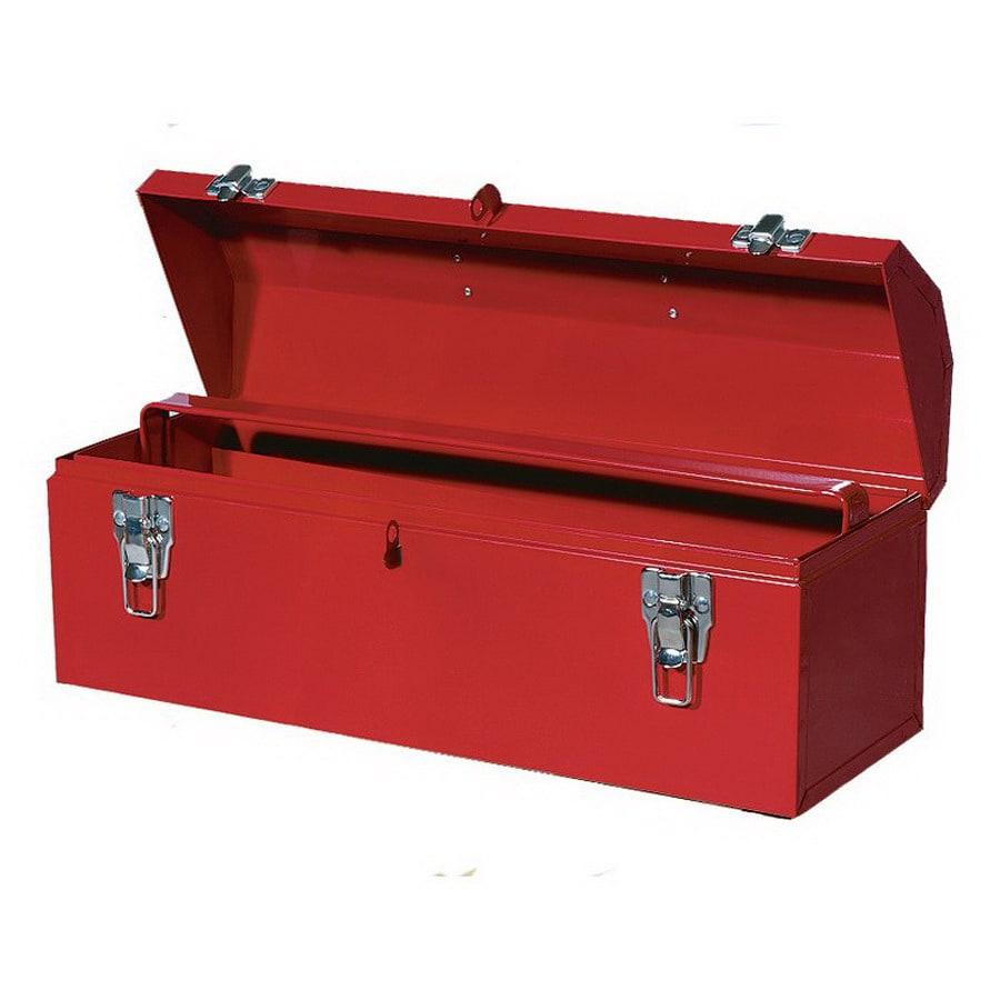 International Tool Storage 20-in Red Steel Lockable Tool Box
