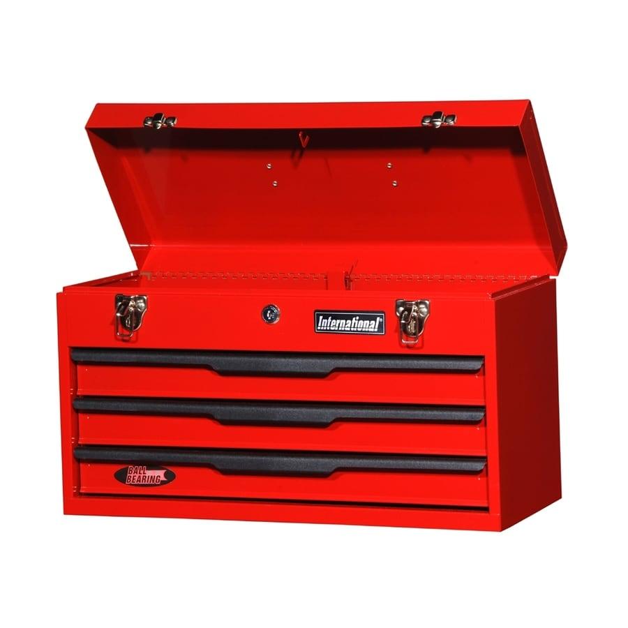 Shop International Tool Storage 21 In 3 Drawer Red Steel