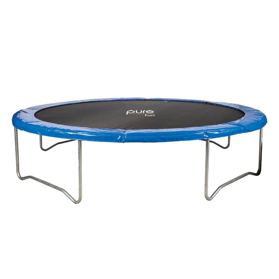 Pure Fun 14-ft Round Blue Backyard Trampoline