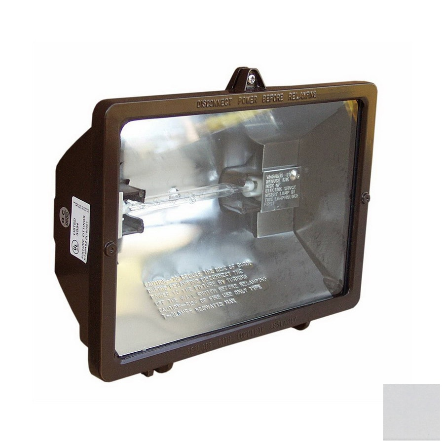 75 in 1 head halogen white switch controlled flood light at. Black Bedroom Furniture Sets. Home Design Ideas