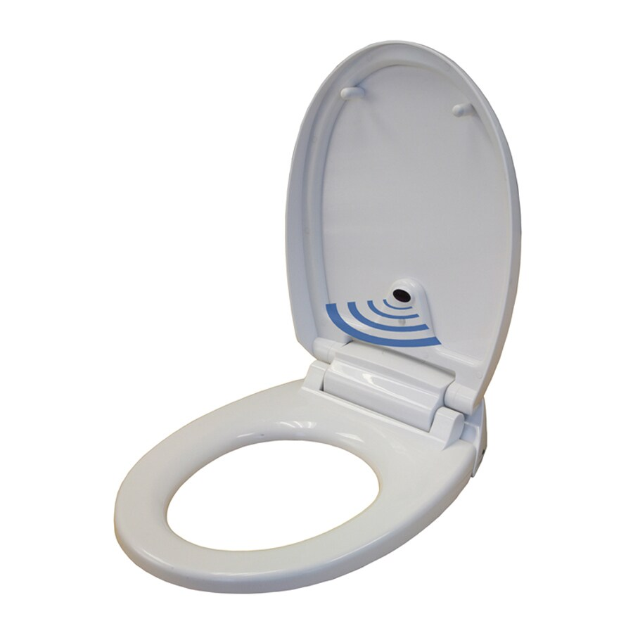 iTouchless Plastic Round Slow-Close Toilet Seat