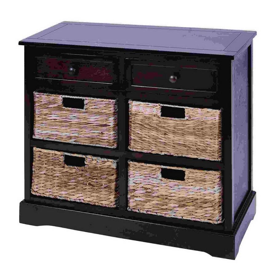 Woodland Imports Dark Wood Office Cabinet