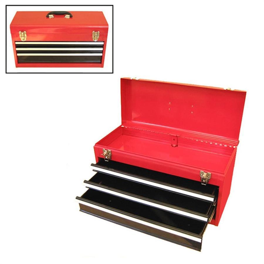 Excel 21-in 3-Drawer Red Steel Lockable Tool Box