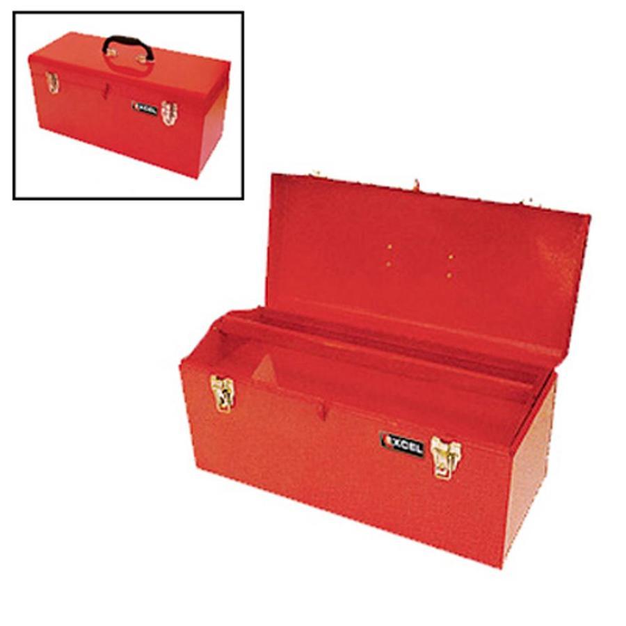 Excel 20-in Red Steel Lockable Tool Box