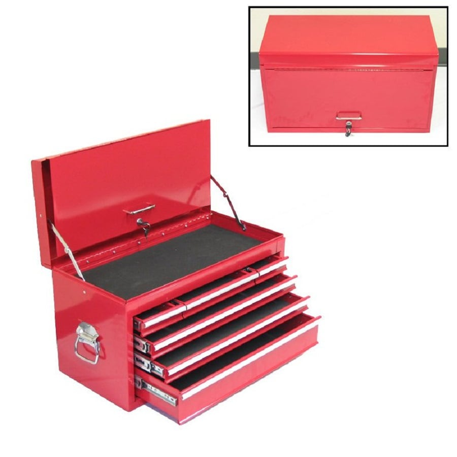 Excel 15.2-in x 26.3-in 6-Drawer Ball-Bearing Steel Tool Chest (Red)