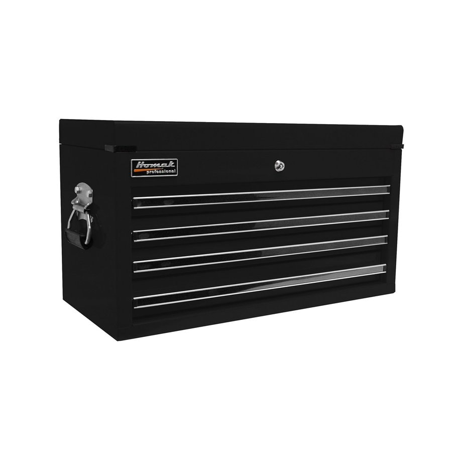 Homak Professional 14.75-in x 26-in 4-Drawer Ball-Bearing Steel Tool Chest (Black)