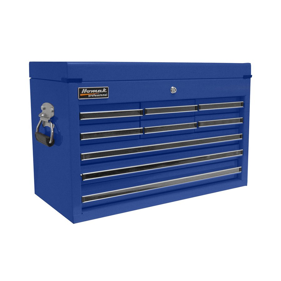 Homak Professional 17-in x 26-in 9-Drawer Ball-Bearing Steel Tool Chest (Blue)