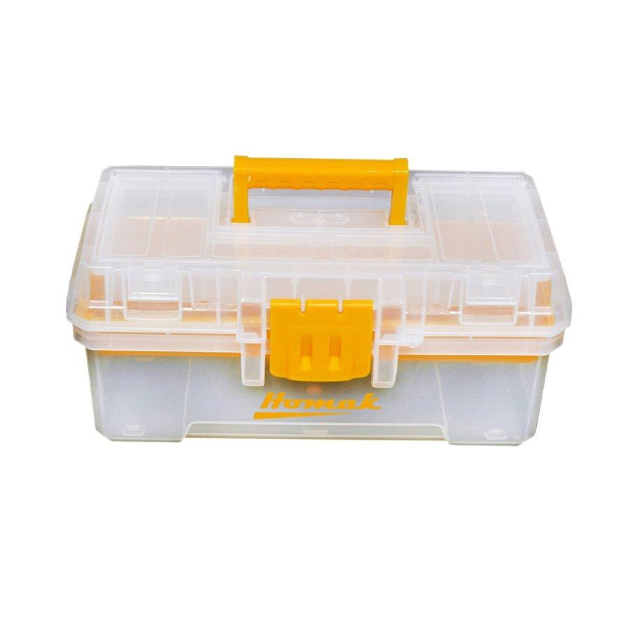 Homak 12-in Clear Plastic Lockable Tool Box