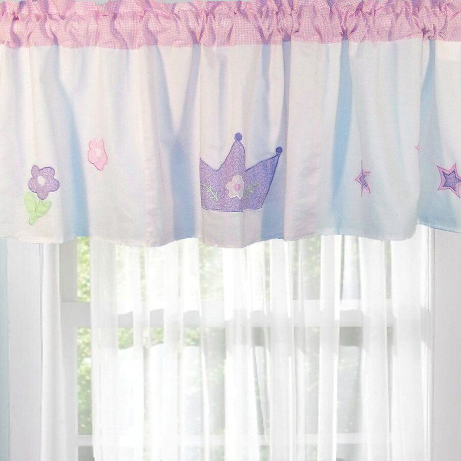 My World Princess 70-in Pastel Pink and White Valance