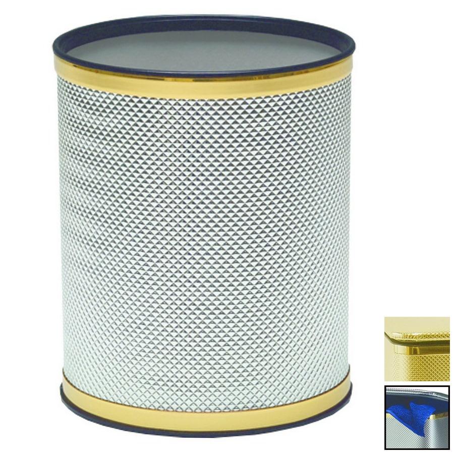 Redmon Bath Jewelry Gold Plastic Wastebasket