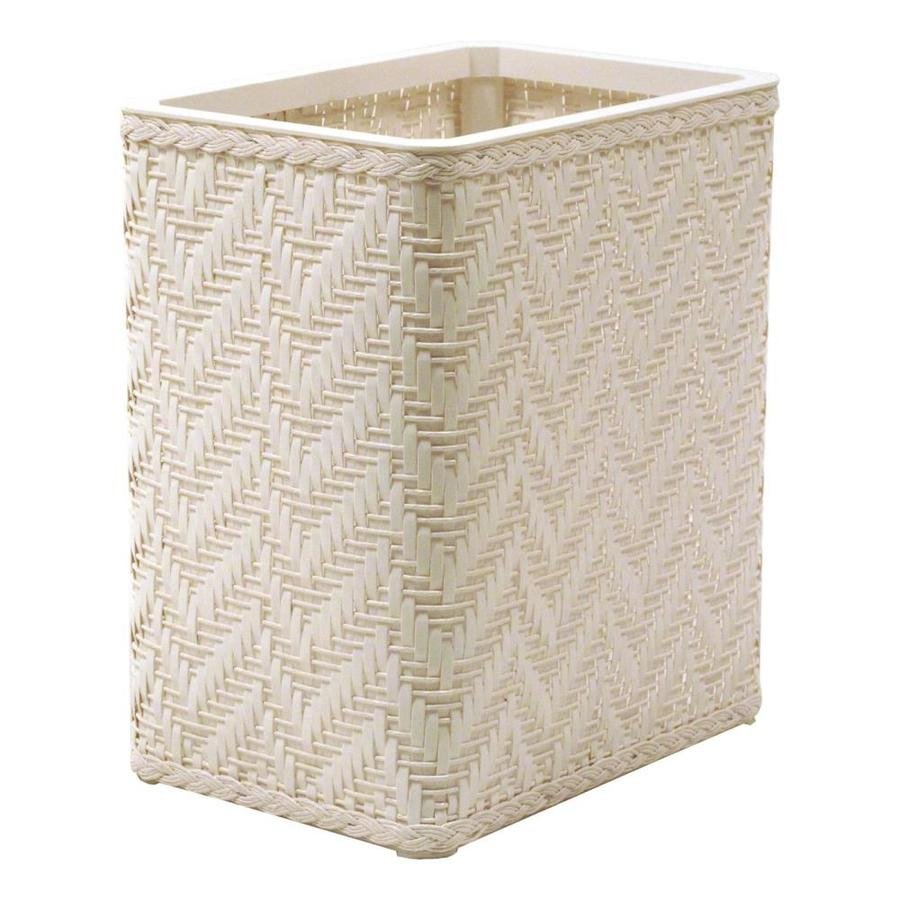 Redmon Elegante White Plastic Wastebasket