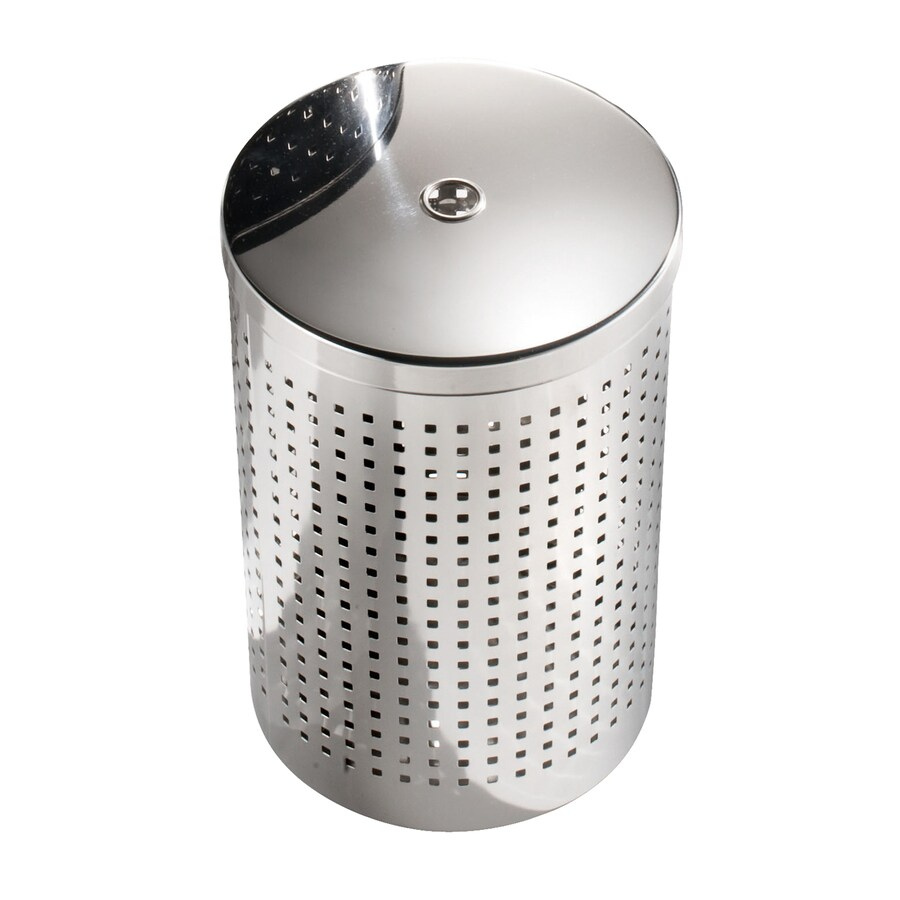 WS Bath Collections Complements 17-Liter Stainless Steel Indoor Trash with Lid