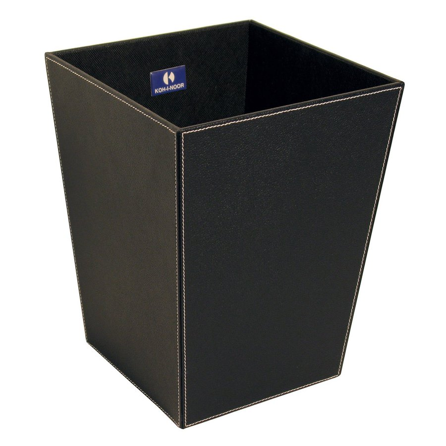 WS Bath Collections Complements II 13-Liter Black Indoor Trash Can