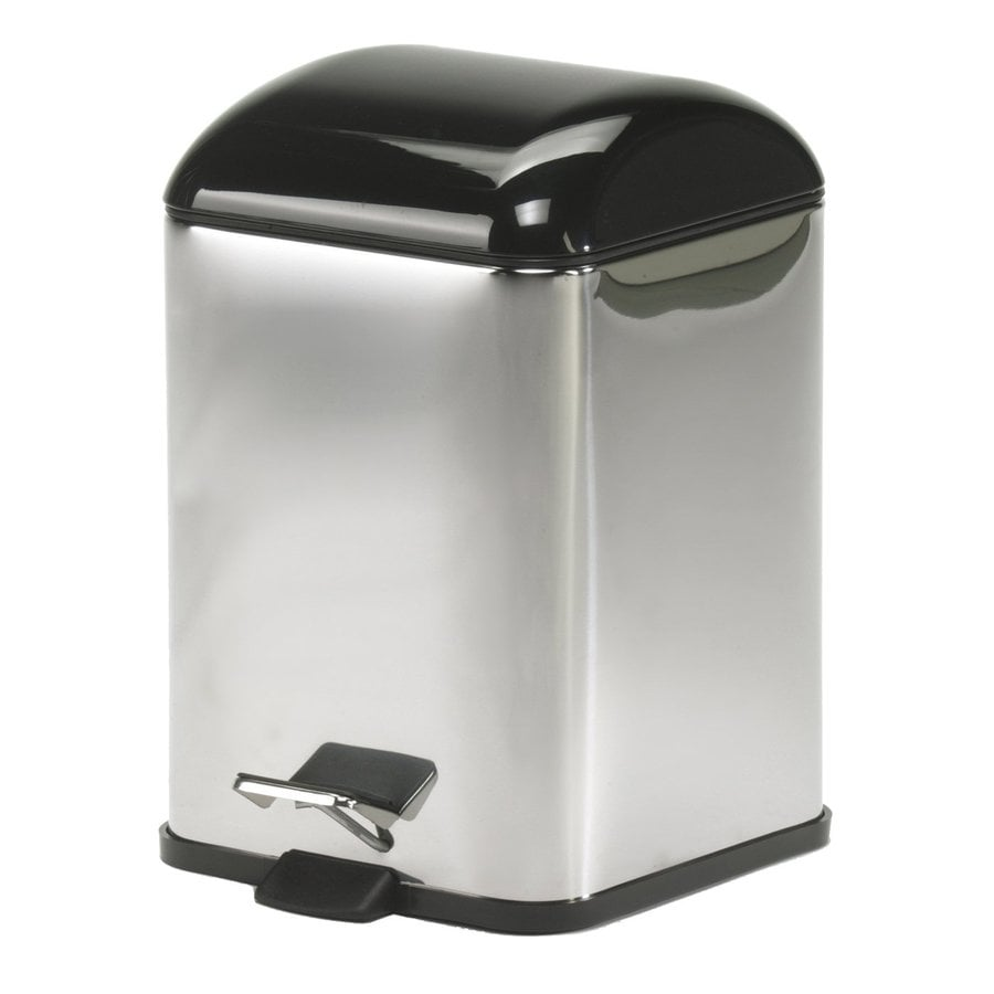 WS Bath Collections Complements II 12-Liter Stainless Steel Indoor Trash Can with Lid