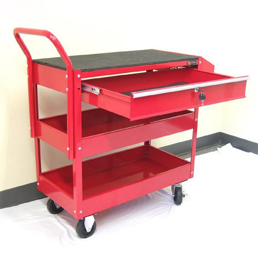 Excel 37.6-in 1-Drawer Utility Cart
