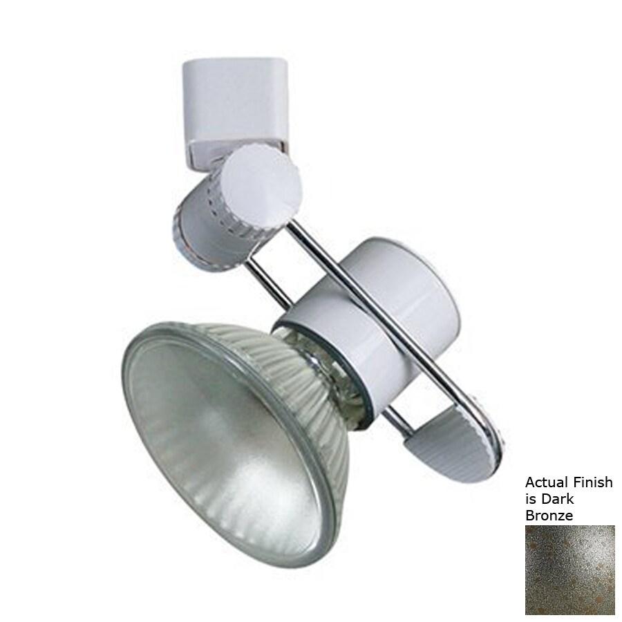 Cal Lighting 1-Light Dark Bronze Gimbal Linear Track Lighting Head