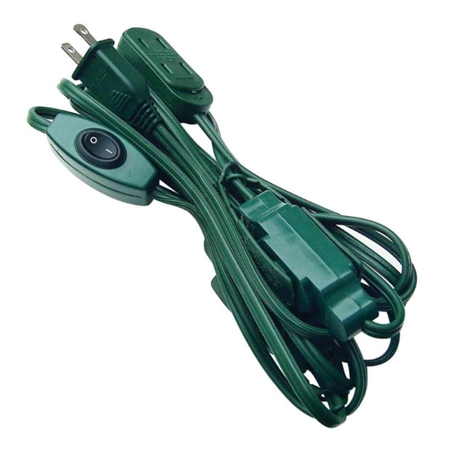 Holiday Living 12-ft 5-Amp 9-Outlet 18-Gauge Green Indoor Extension Cord