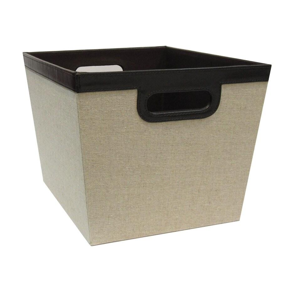 allen + roth 14-in W x 10-in H x 12-in D Beige Fabric Milk Crate
