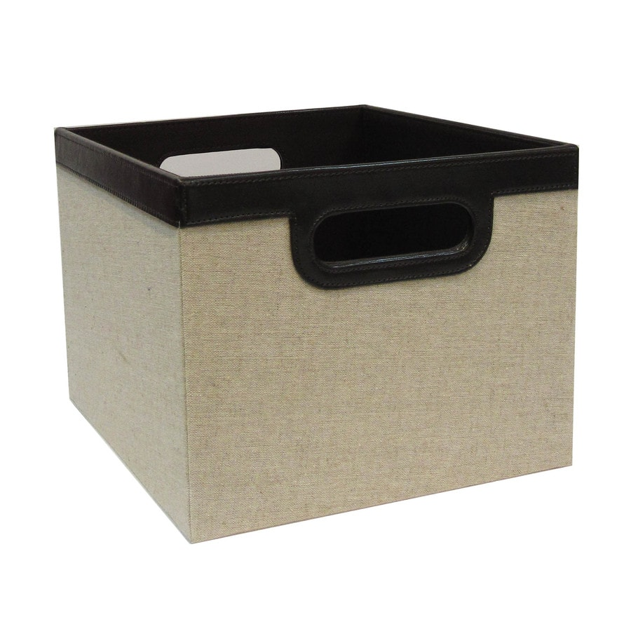 allen + roth 11-in W x 8-in H x 10-in D Beige Fabric Milk Crate