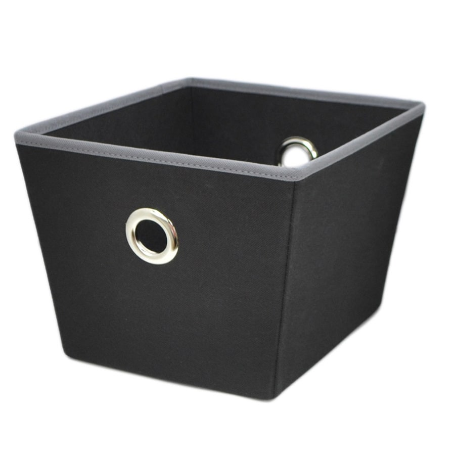 Style Selections 12-in W x 8-in H x 10-in D Black Fabric Bins