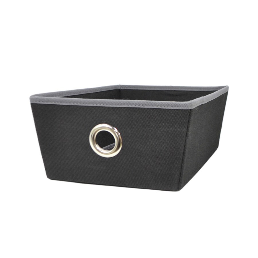 Style Selections 14.25-in W x 5-in H x 9.5-in D Black Fabric Bins