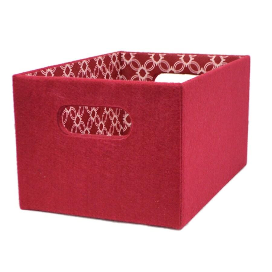 allen + roth 7.13-in W x 5.5-in H x 10.69-in D Red Fabric Bin