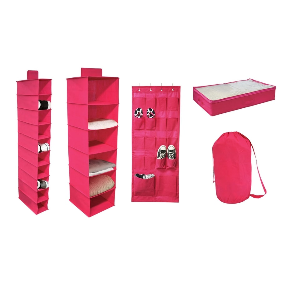 Style Selections Set of 5 Pink 13.5-in W x 14-in H Soft Organizers