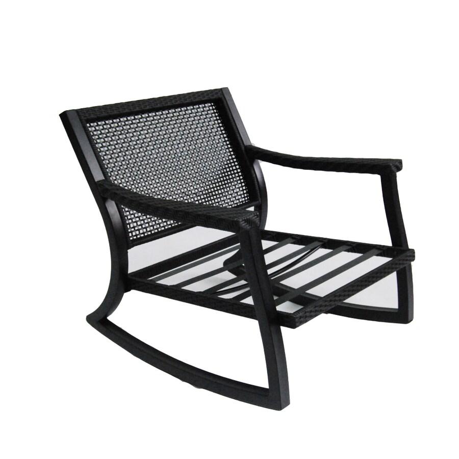 allen + roth Netley Brown Steel Patio Conversation Chair