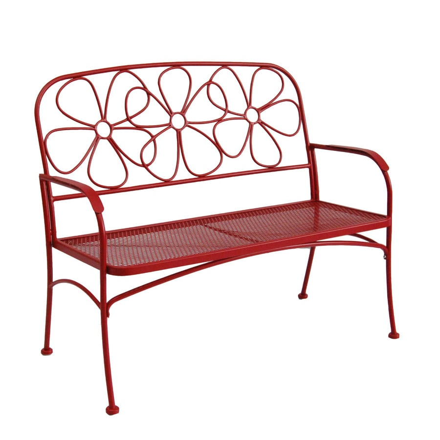 Garden Treasures 43.63-in L Steel/Iron Patio Bench