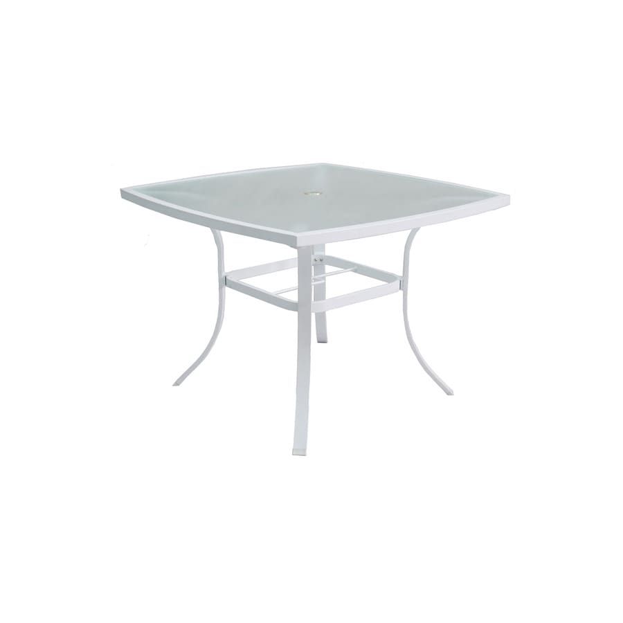 allen + roth Ocean Park 42-in W x 42-in L Square Aluminum Dining Table